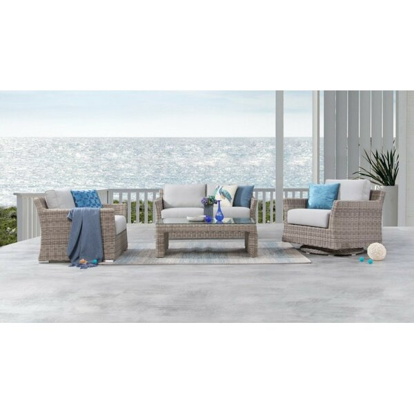 Soto 4 Piece Rattan Sofa Seating Group with Cushions by Bayou Breeze