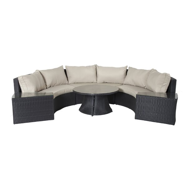 Gadson 6 Piece Rattan Sectional Set with Cushions by Latitude Run