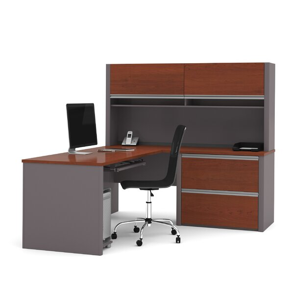 Wirra L-Shape Executive Desk with Hutch by Latitude Run