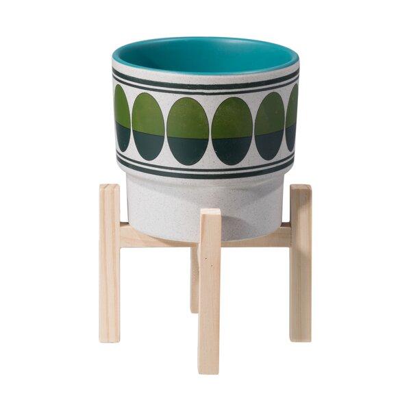Verla Retro Ceramic Pot Planter by Ebern Designs
