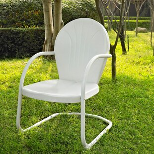 White Metal Patio Dining Chairs