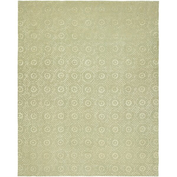 Anabella Hand-Tufted Wool Ivory Area Rug by Ophelia & Co.