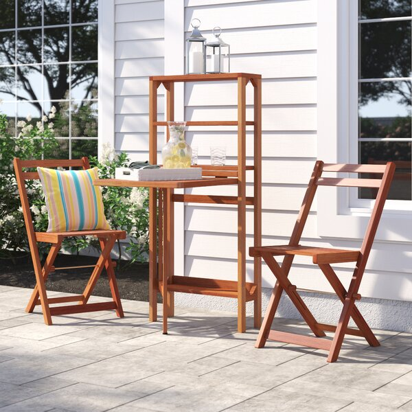 Feldt 3 Piece Dining Set by Highland Dunes