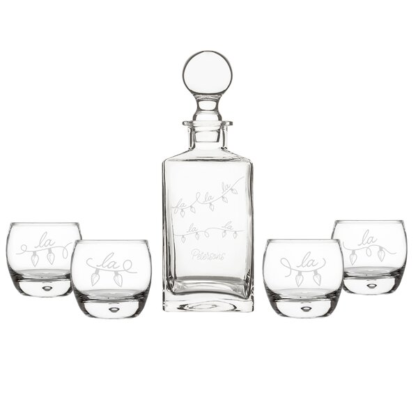 Bouley Personalized Fa La La Beverage Serving Set By The Holiday Aisle.