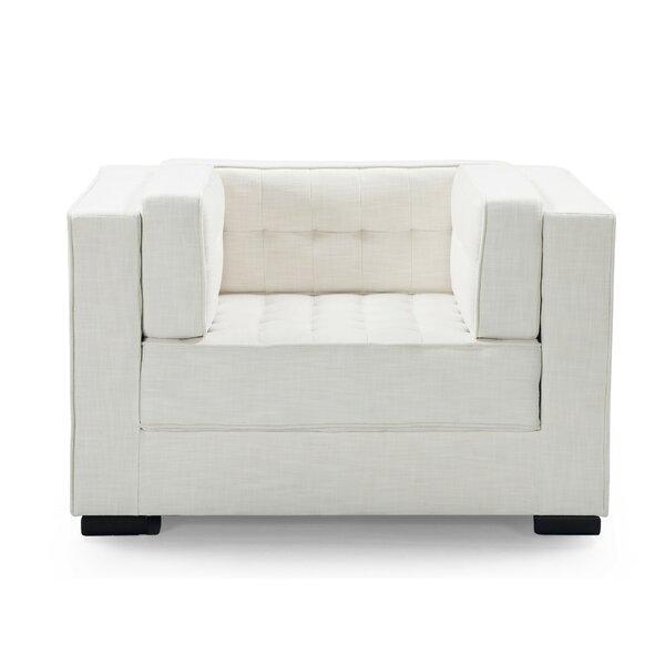 Unknow Linen Club Chair By Orren Ellis