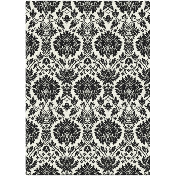 Manor Uptown Hand-Tufted Black/White Area Rug by Milliken