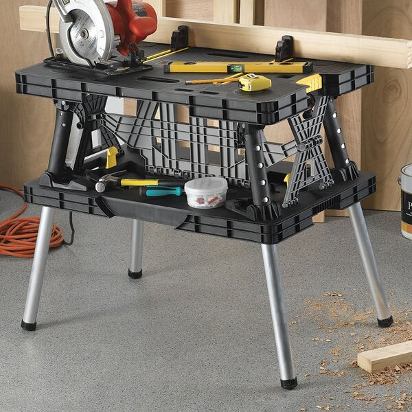 Folding Compact 36 W Top Workbench by Keter