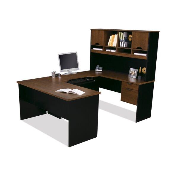 Innova U-Shape Executive Desk with Hutch by Bestar