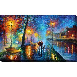 Melody of the Night by Leonid Afremov Painting Print on Wrapped Canvas by Picture Perfect International