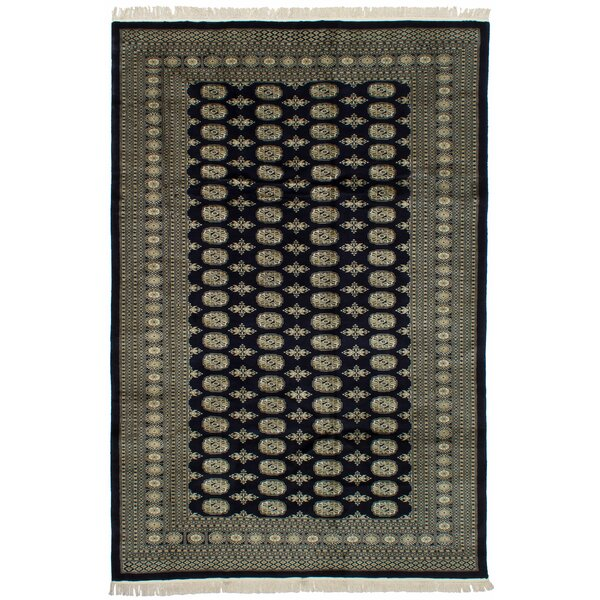 One-of-a-Kind Harsh Hand-Knotted Wool Dark Navy Indoor Area Rug by Isabelline