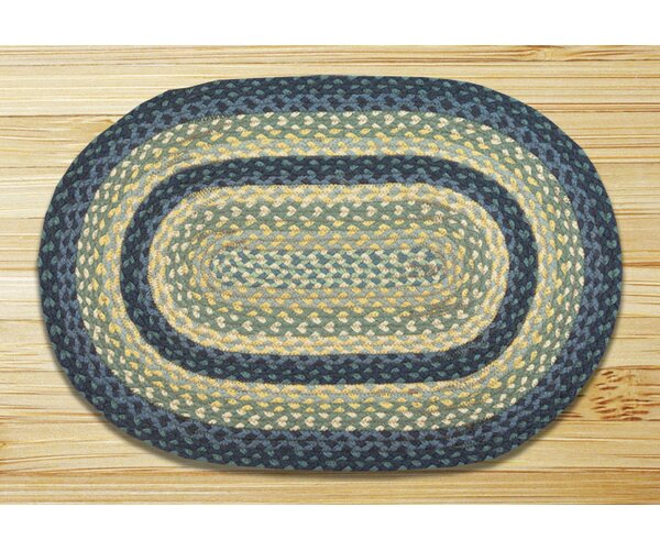 Breezy Blue/Taupe/Ivory Braided Area Rug by Earth Rugs