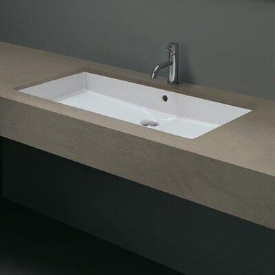 Undermount Bathroom Sink ws bath collections ceramica cubo rectangular undermount bathroom