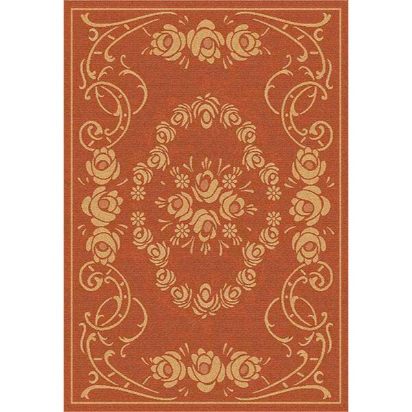 Elisabeth Terra/Natural Outdoor Rug by Bloomsbury Market