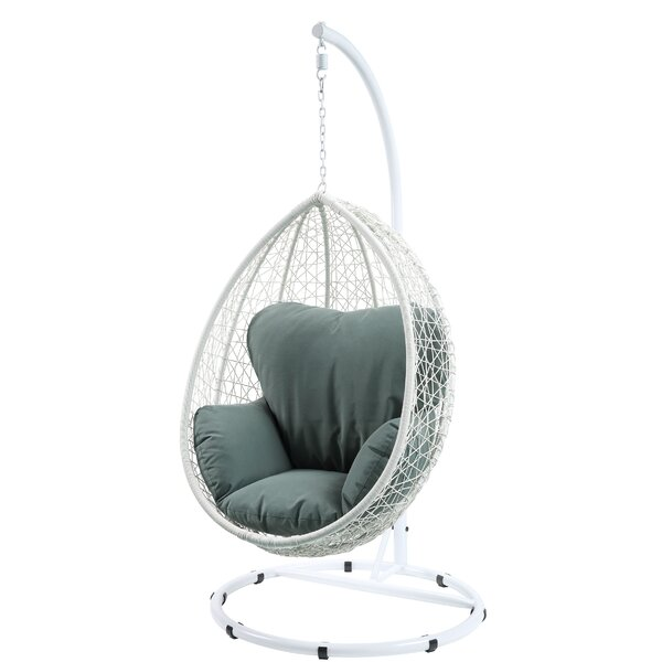 St Judes Patio Swing Chair with Stand by Bungalow Rose