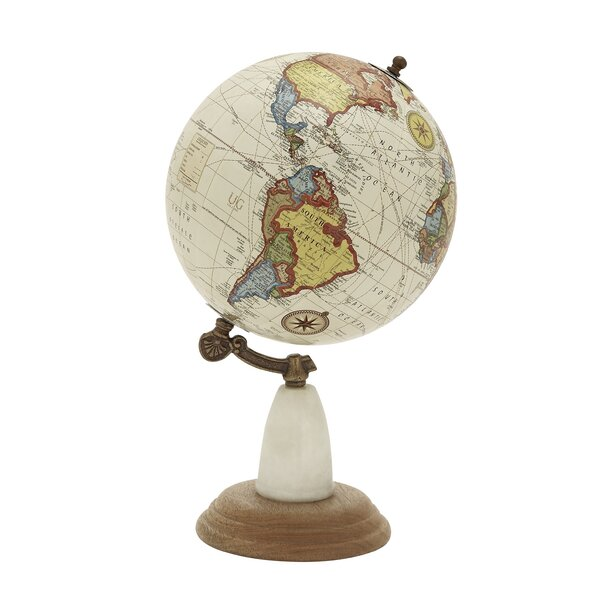 Wood Metal Marble Globe by Cole & Grey