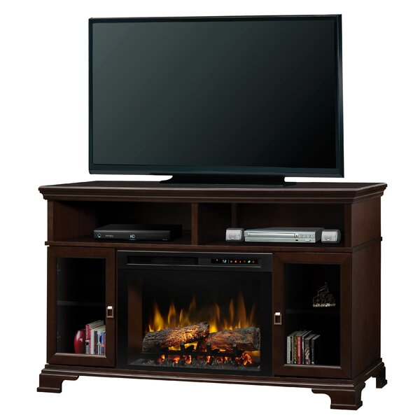 Brookings TV Stand with Electric Fireplace by Dimplex