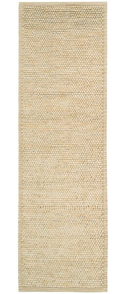 Whalton Hand-Knotted Wool Ivory Area Rug by Breakwater Bay
