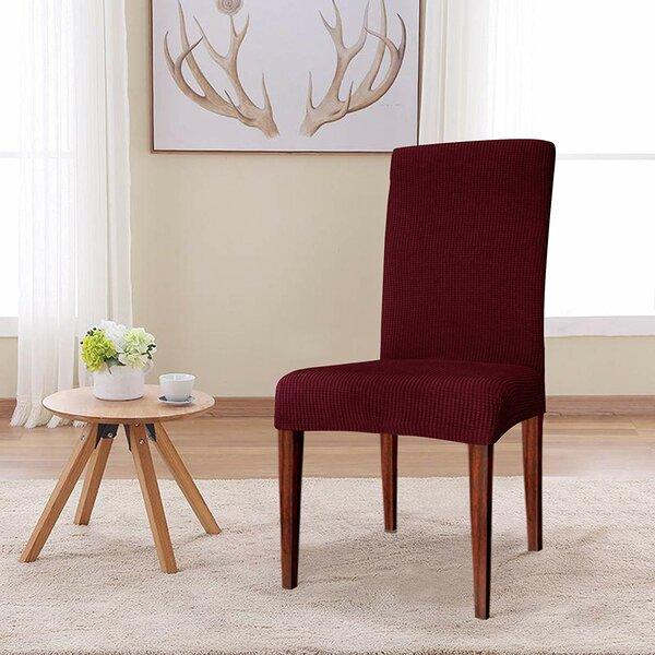 Jacquard Box Cushion Dining Chair Slipcover By Winston Porter