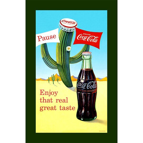 Coke Pause Cactus Vintage Advertisement on Wrapped Canvas by Trademark Fine Art