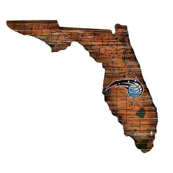NBA Magic Distressed State Wall Décor by Fan Creations