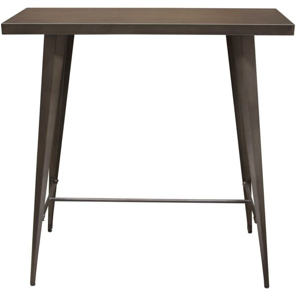 Taveras Metal Rectangular Pub Table by Williston Forge