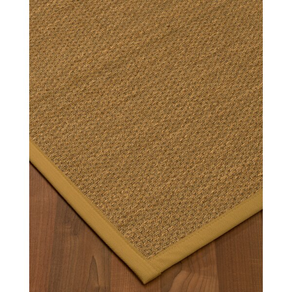 Chavis Border Hand-Woven Beige/Sage Area Rug by Rosecliff Heights