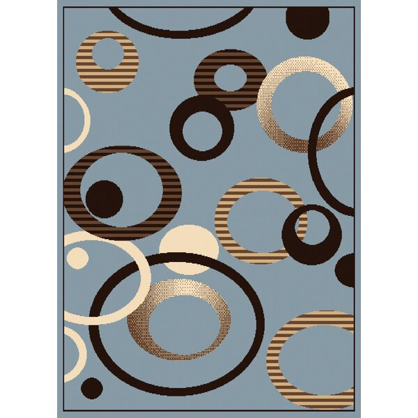 Dallas Hip Hop Blue Area Rug by United Weavers of America