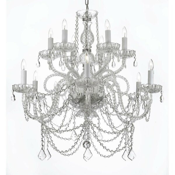 Linquist 12-Light Candle Style Tiered Chandelier By Astoria Grand