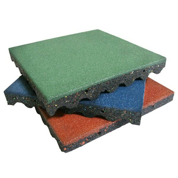 Eco-Safety Interlocking Playground Tile (Set of 10) by Rubber-Cal, Inc.
