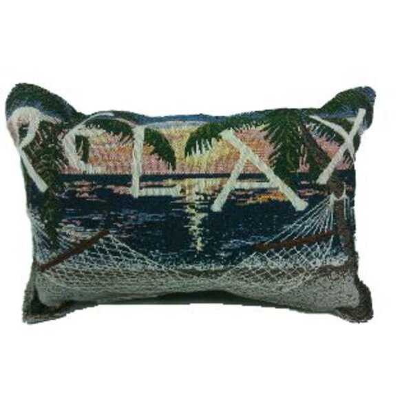 Robyn Sunset Sails Relax Hammock Decorative Tapestry Lumbar Pillow by Bay Isle Home