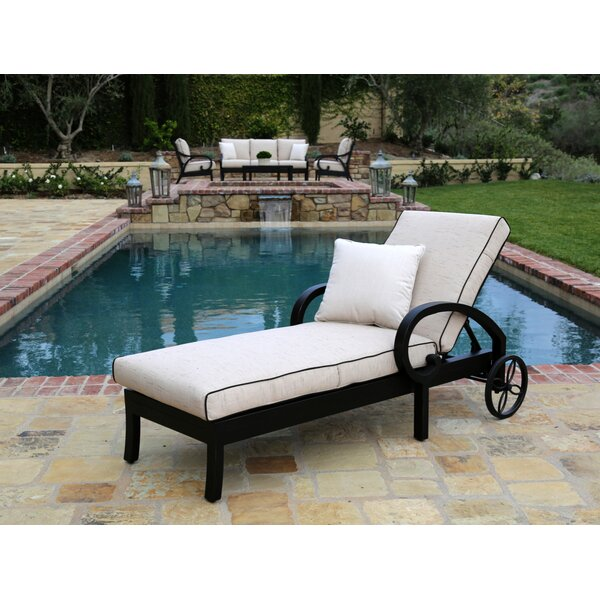 Monterey Chaise Lounge with Cushion by Sunset West Sunset West