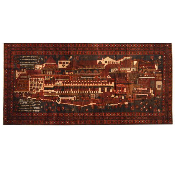 Prentice Hand-knotted Brown/Red Area Rug by Isabelline