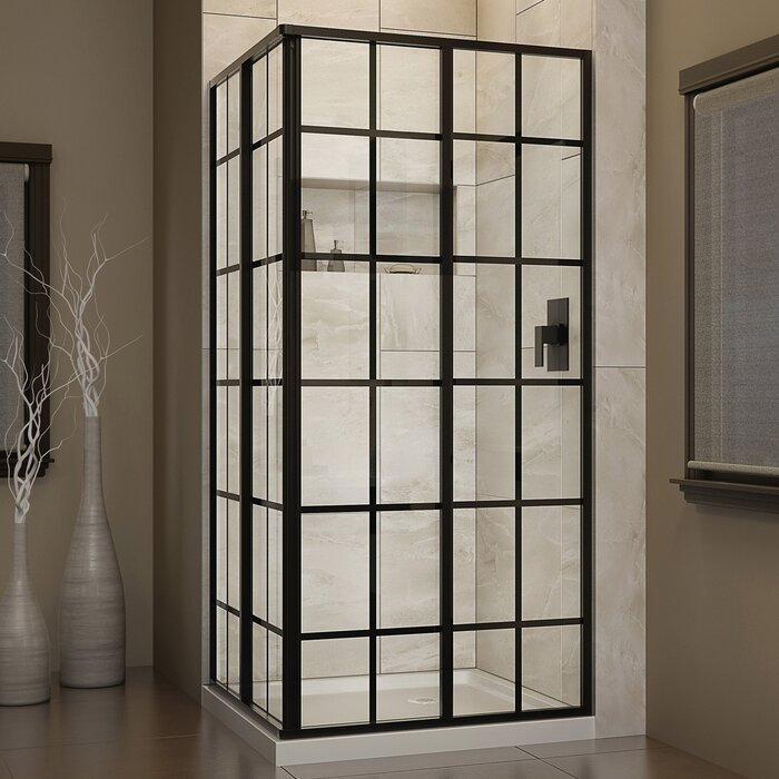 shower sliding product with mode x victoriaplum enclosure com black slate tray effect