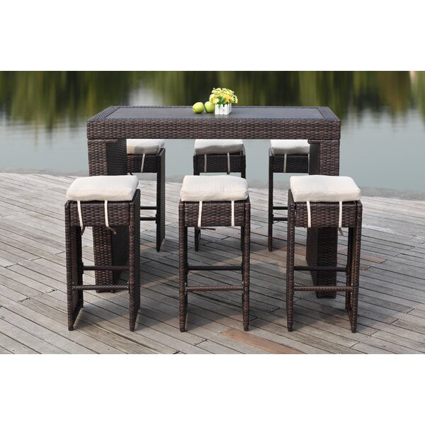 Motter 7 Piece Bar Height Dining Set with Cushions by Brayden Studio