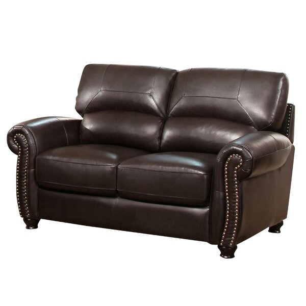 Boley Leather Loveseat by Fleur De Lis Living