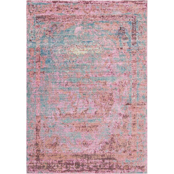 Rune Pink Area Rug by Bungalow Rose