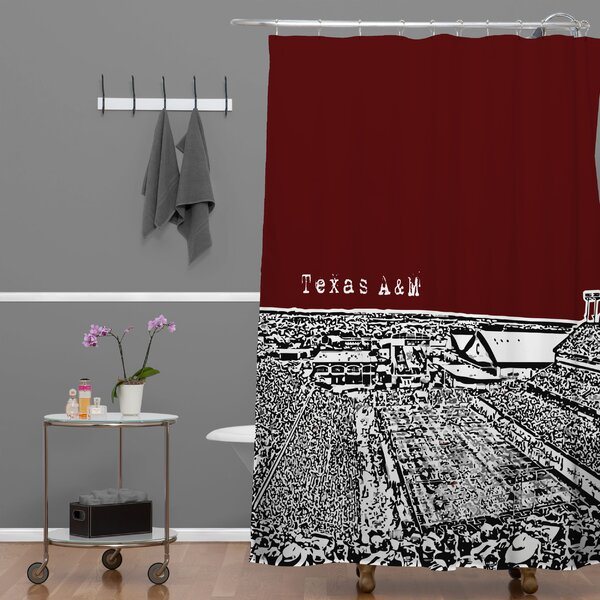 Bird AveTexas A and M Maroon Shower Curtain by Deny Designs