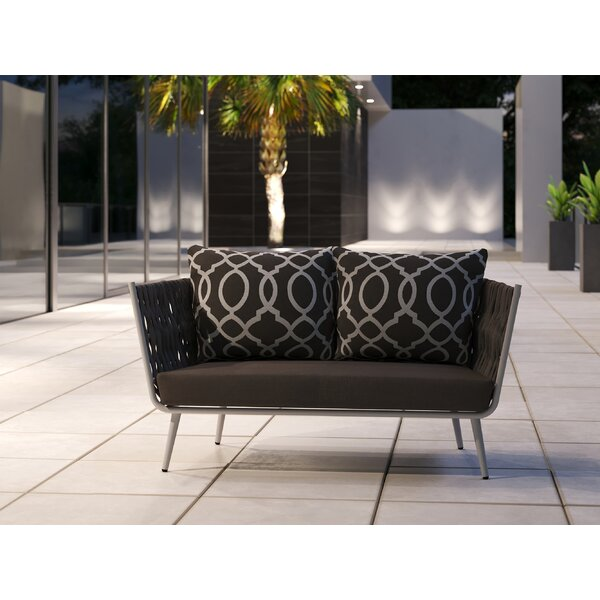 Horton Loveseat with Cushions by Bungalow Rose