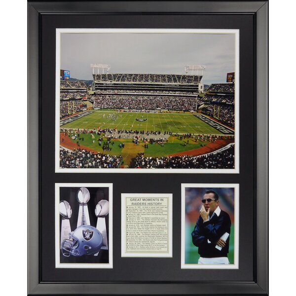 NFL Oakland Raiders - Raider Stadium Framed Memorabili by Legends Never Die