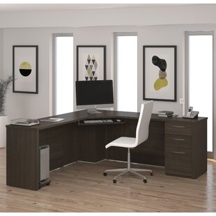 Karyn L-Shape Computer Desk With Hutch by Latitude Run Spacial Price