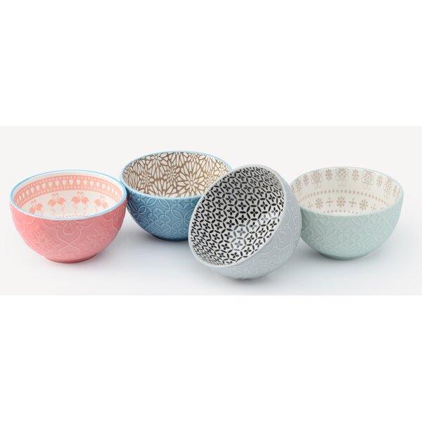 Rosman 28 oz. 4 Piece Dining Bowl Set by Mint Pantry
