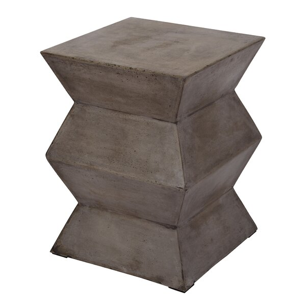 Concord Folded Cement Stool by Williston Forge