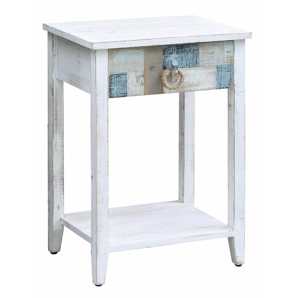 Harrel End Table with Storage by Highland Dunes