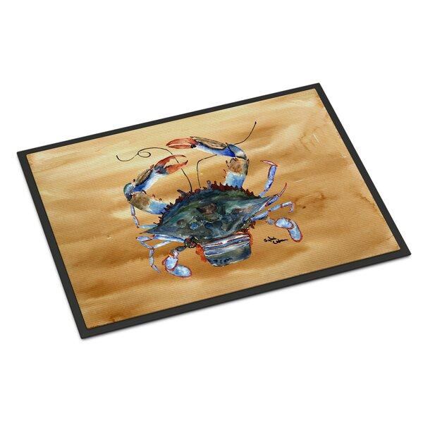 Crab on Sandy Non-Slip Indoor Door Mat
