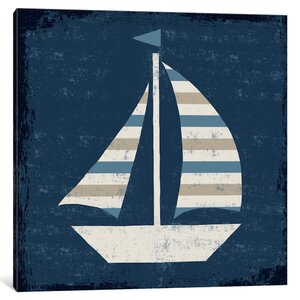 'Nautical Love (Sail Boat)' Graphic Art Print by Breakwater Bay