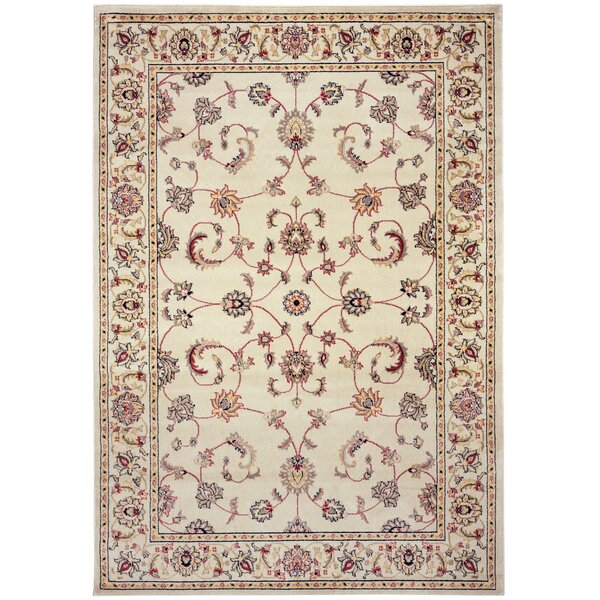 Culver Ivory Floral Area Rug by Threadbind