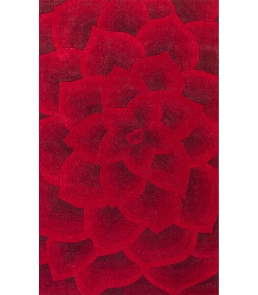 Moderna Hand-Tufted Red Area Rug by nuLOOM