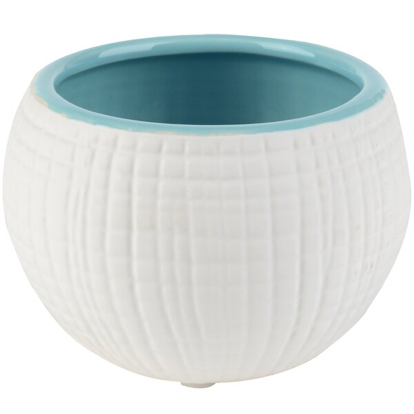 Woven Ceramic Pot Planter (Set of 4) by Breakwater Bay
