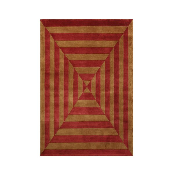 Noble Gold/Rust Area Rug by Noble House