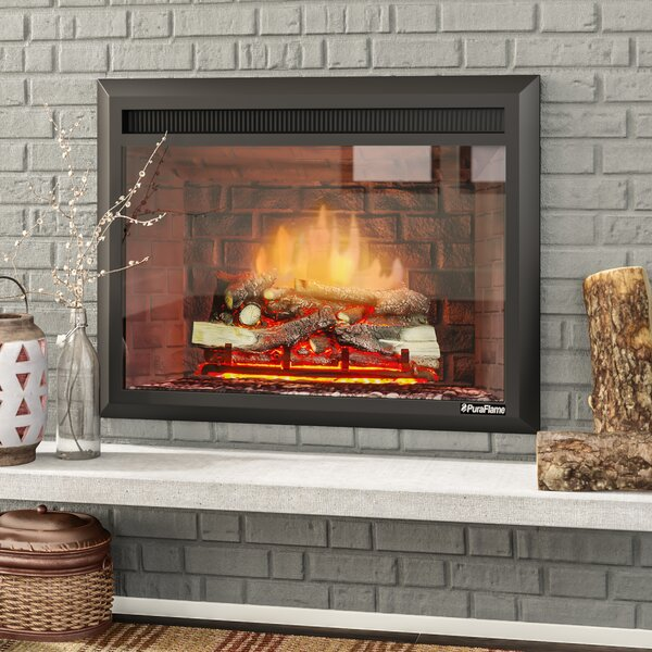 Armes Black 750 1500w Western Electric Fireplace Insert By Loon Peak.